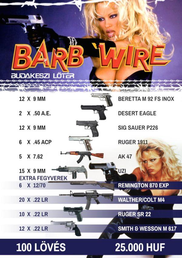 Barb Wire – Bosszúálló angyal élménylövészeti csomag