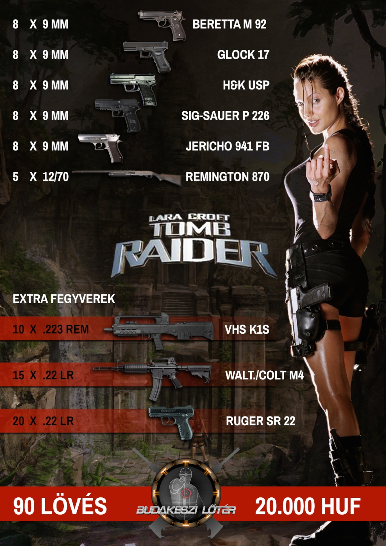 Lara Croft – Tomb Raider élménylövészeti csomag