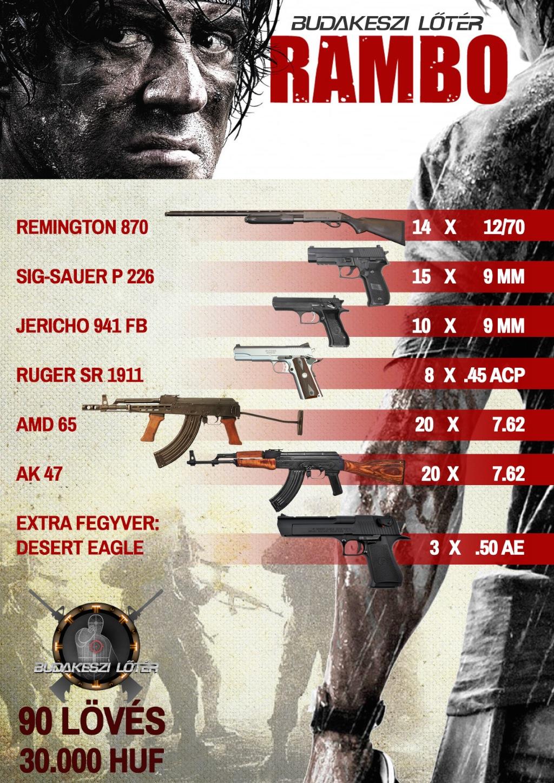 Rambo élménylövészeti csomag