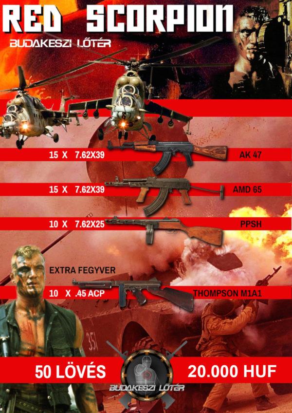 Red Scorpion – Vörös skorpió élménylövészeti csomag