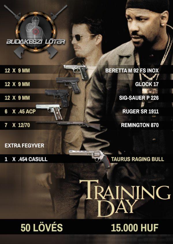 Training Day – Kiképzés élménylövészeti csomag
