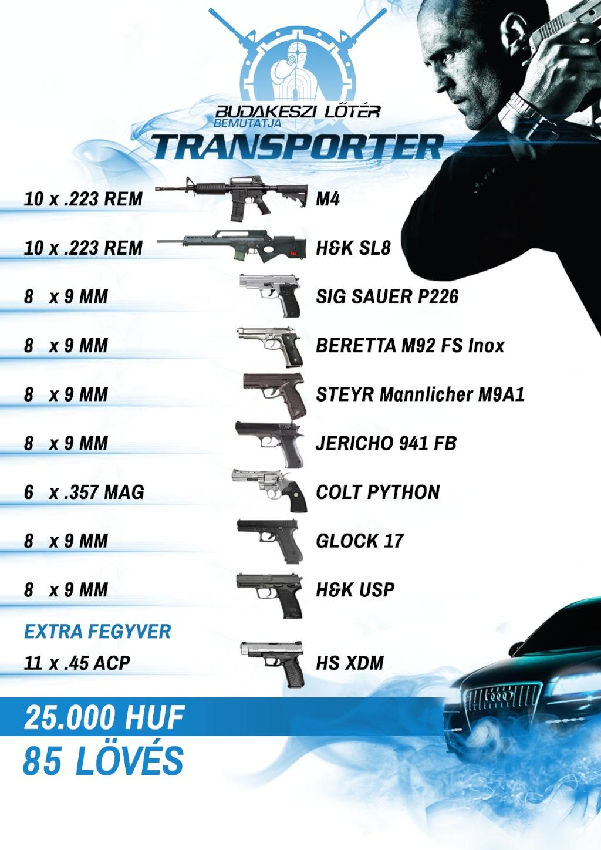 Transporter – A szállító élménylövészeti csomag