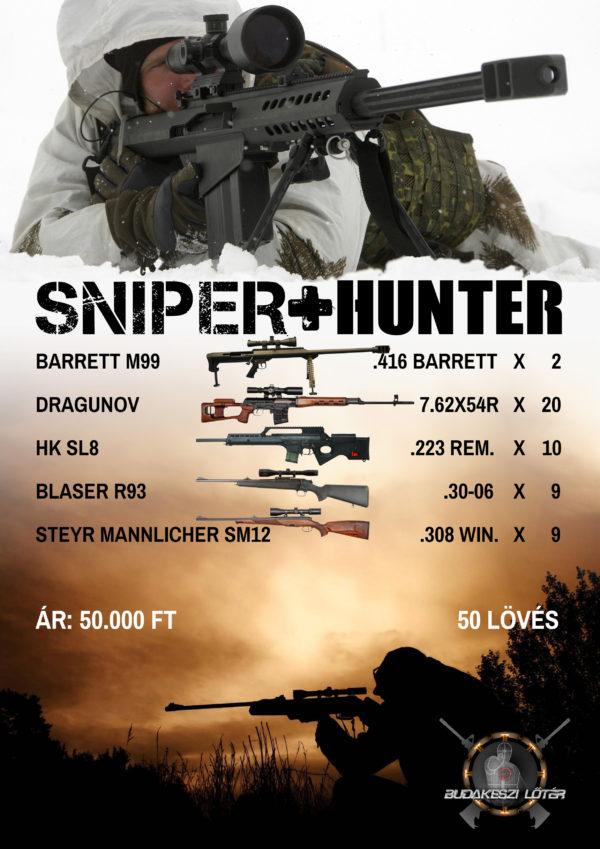 Sniper + Hunter élménylövészeti csomag