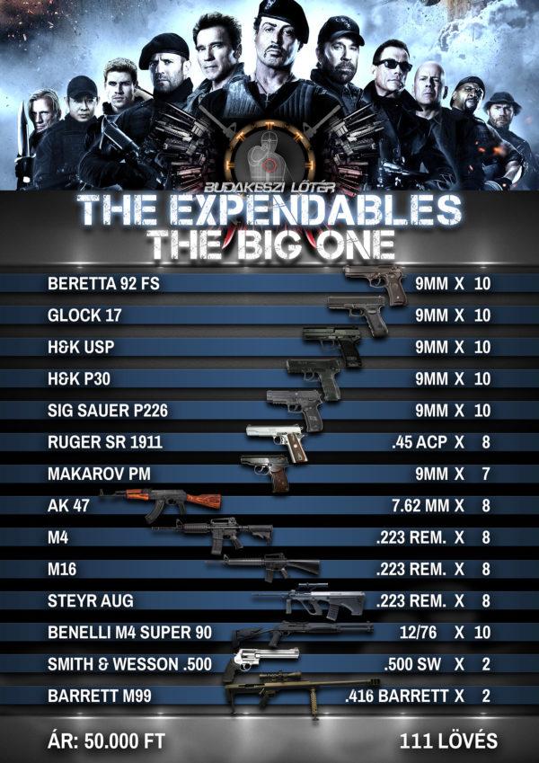 The Expendables The Big One – A feláldozhatók élménylövészeti csomag
