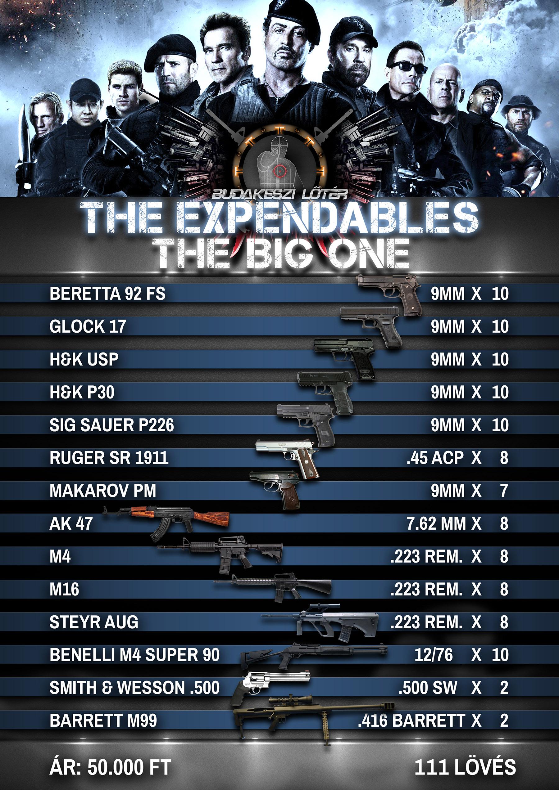 The Expendables The Big One - A feláldozhatók élménylövészeti csomag