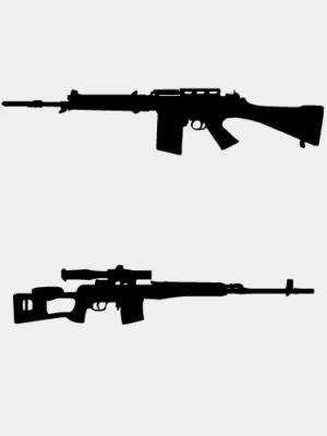 Hadi- és mesterlövész puskák